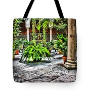 Andalusian Courtyard In Sevilla Spain Tote Bag