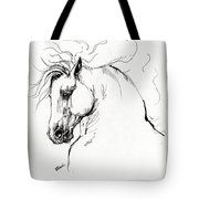 Andalusian Horse Drawing 1 Tote Bag