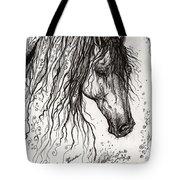 Andalusian Horse Drawing 2 Tote Bag