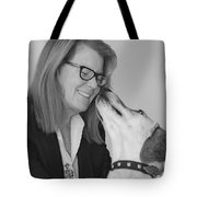 Andrew And Andree Bw Tote Bag by Irina ArchAngelSkaya