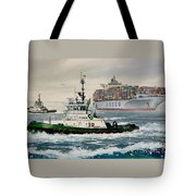 Andrew Foss Assisting Cosco Tote Bag