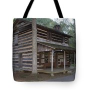 Andrew Logan Log Cabin Ninety Six National Historic Site Tote Bag