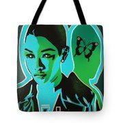 Android 1 In Greens Tote Bag
