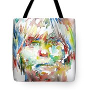Andy Warhol Watercolor Portrait Tote Bag