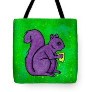 Andy's Squirrel Purple Tote Bag