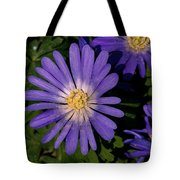 Anemone Blanda Blue Tote Bag