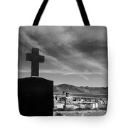 Angel And Cross Tote Bag