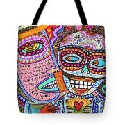 Angel And Frida Sugar Skull Lovers' Tote Bag