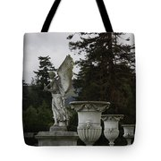 Angel And Garden Urns Tote Bag