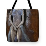 Angel And Teddy Bear Tote Bag