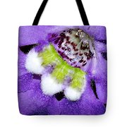 Angel Face Blue - With Extra Petals And 3 Stamen Tote Bag