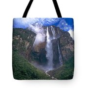 Angel Falls In Canaima National Park Venezuela Tote Bag