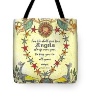 Angel Fraktur Painting Tote Bag