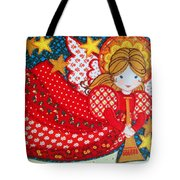 Angel In Red Tote Bag