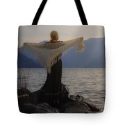 Angel In Sunset Tote Bag