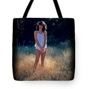 Angel In The Grasses Tote Bag