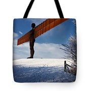 Angel In The Snow Iv Tote Bag