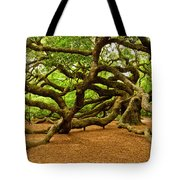 Angel Oak Tree Branches Tote Bag by Louis Dallara