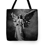Angel Of Death Bw Tote Bag