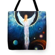 Angel Of The Eclipse Tote Bag