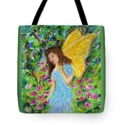 Angel Of The Garden Tote Bag
