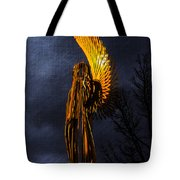 Angel Of The Morning Textured Tote Bag