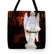 Angel Statue Offers Holy Water Tote Bag