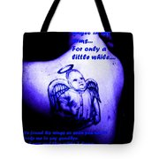 Angel On Her Shoulder Tote Bag