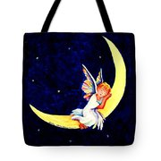 Angel On The Moon Tote Bag