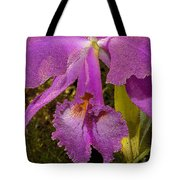 Angel Orchid Gold Leaf Tote Bag