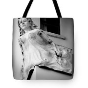 Angel Out The Window Tote Bag