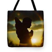 Angel Silhouette Tote Bag