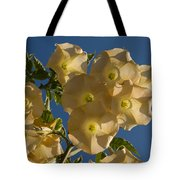Angel Trumpets In The Sky Tote Bag