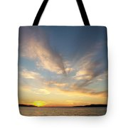 Angel Wing Sunset Tote Bag