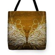 Angel Wings Gold Tote Bag