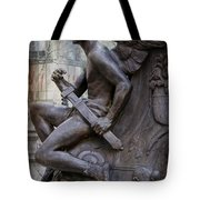 Angel With His Sword Tote Bag