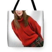 Angela Plaid Skirt Tote Bag