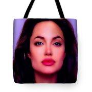 Angelina Jolie Beautiful Lips Tote Bag