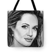 Angelina Jolie In 2005 Tote Bag by J McCombie