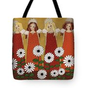 Angels And Dasies Tote Bag