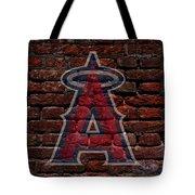 Angels Baseball Graffiti On Brick  Tote Bag by Movie Poster Prints