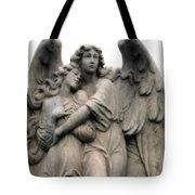 Angels Embracing - Angels Dreamy Romantic Angel Art - Guardian Angel Art  Tote Bag