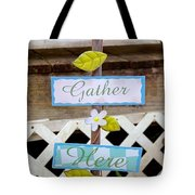 Angels Gather Here Tote Bag