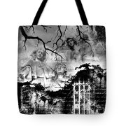 Angels In Gothica Bw Tote Bag
