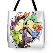 Angels Of Peace Tote Bag by Sarah Batalka