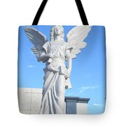 Angels Watch Over You Tote Bag
