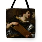Angels With Attributes Of The Passion Tote Bag