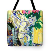 Angels With Roses Tote Bag