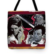 Angie Dickinson Robert Mitchum Pose Collage Young Billy Young Old Tucson Arizona 1968-2013 Tote Bag