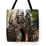 Angkor Thom North Gate 01 Tote Bag